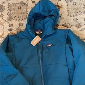 Patagonia Men's Nano-Air Hoody XL Blue Zip NWT
